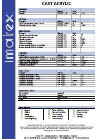 Imatex datasheet Gegoten acrylaat (PMMA)