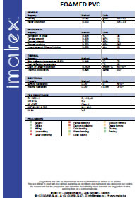 IMATEX Datasheet PVC foam sheet
