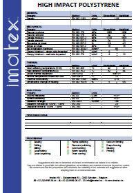 Imatex datasheet (Hoogslagvast) Polystyreen (PS / HIPS)