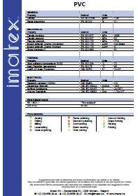 Imatex datasheet PVC