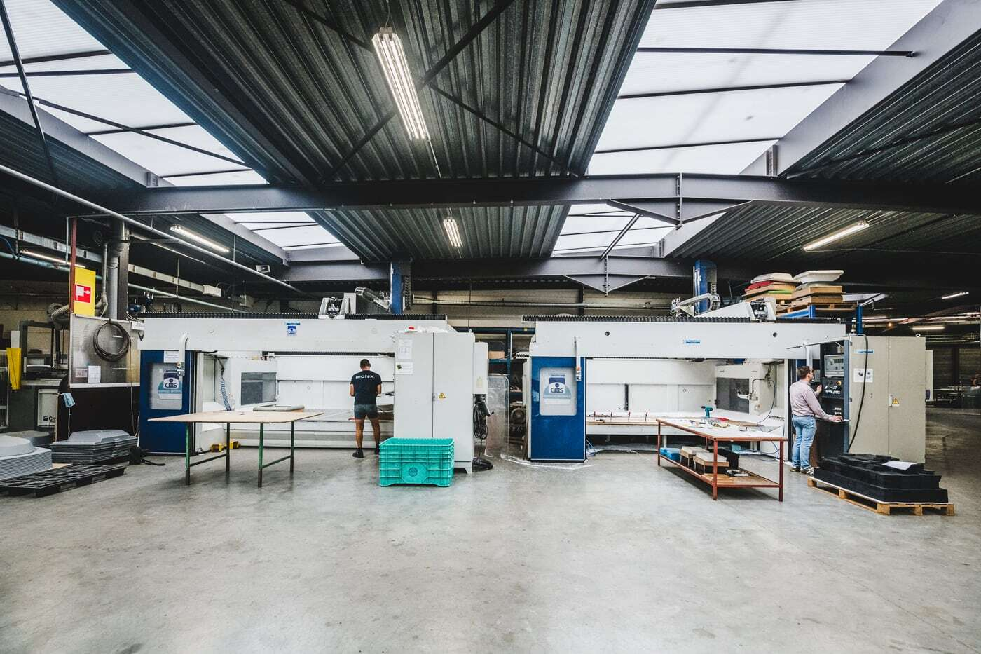 Imatex beschikt over drie 5-assige freesmachines.