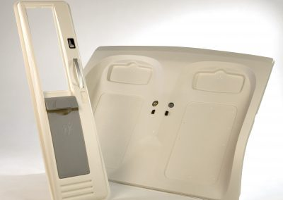 Application of vacuum forming in the automotive industry.