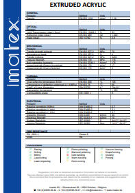 la fiche Imatex Acrylate extrudé (PMMA)